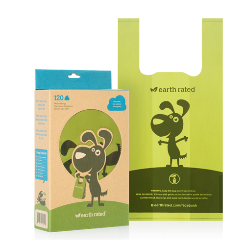 Earth Rated Poop Bags 120 Box Unscented (Handles)
