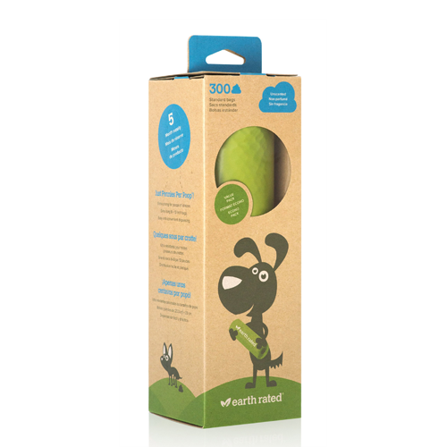 Earth Rated Poop Bags 300 Roll Unscented