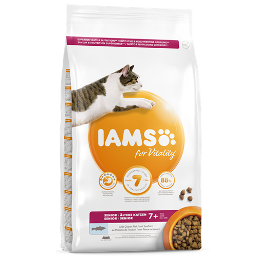 Iams Cat Vitality Senior Ocean Fish 2kg