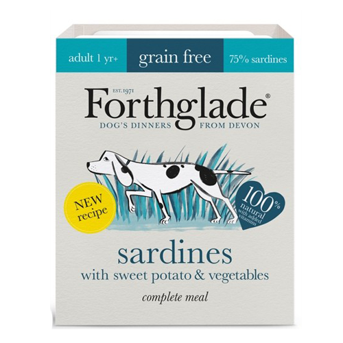 Forthglade Dog Grain Free Adult Sardines, Sweet Potato & Veg 395g