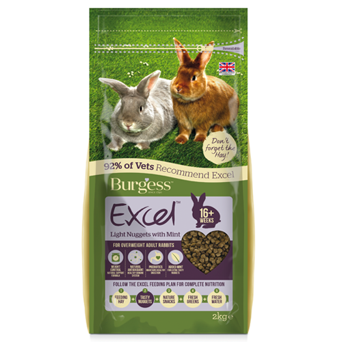 Burgess Excel Light Rabbit Nuggets With Mint 2kg