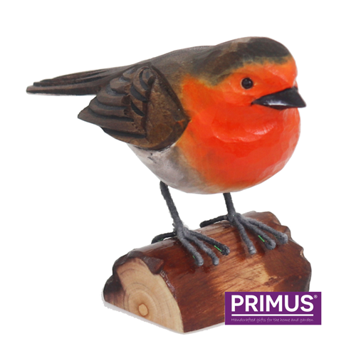 Primus RSPB Hand Carved Wooden Robin