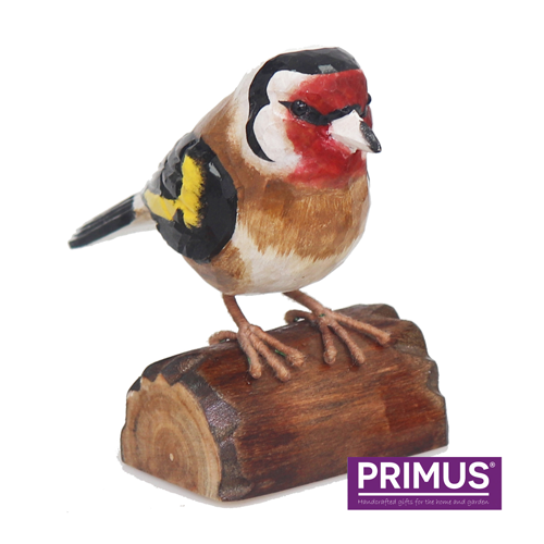 Primus RSPB Hand Carved Wooden Goldfinch