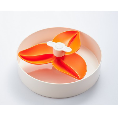 Spin Interactive Slow Feed Bowl Orange Bougainvillea